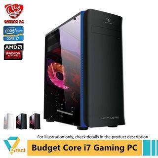 Core i7 R9 370 ( GTX1050 power) gaming PC 8GB RAM 480GB SSD for Apex Batterfield CSGO Dota 2 Fifa Fortnite GTA PUBG Lege