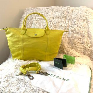 LONGCHAMP LE PLIAGE CUIR In yellow Leather