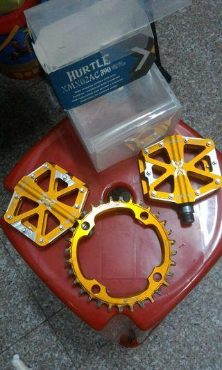 Xpedo pedal and prg chain ring
