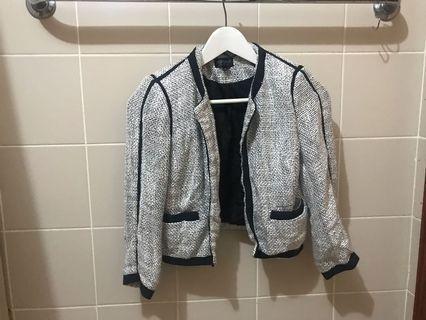 Topshop tweed blazer jacket