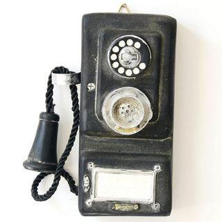 Vintage Antique Telephone wall mounted Display Prop