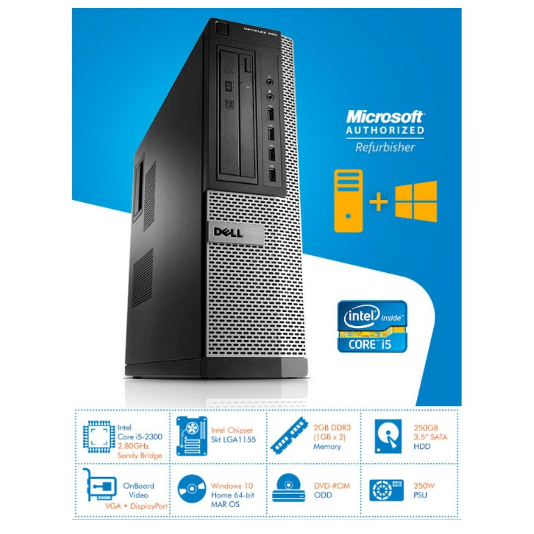 0 Intel Core i5-2300 2 80GHz with Dell OptiPlex 990 DT with