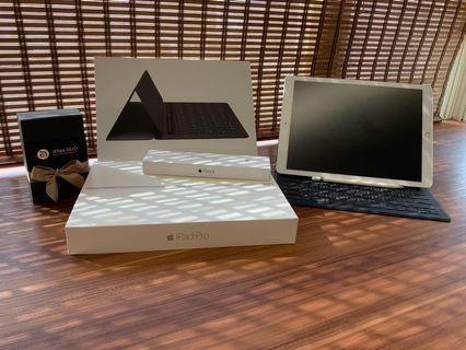 Ipad pro12.9吋  128G LTE版本 銀色 全配件不分售 9.5成新(保固中鍵盤)
