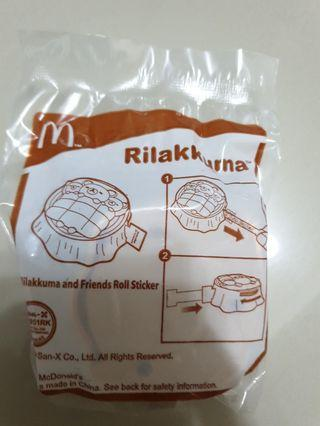 Mcdonald's rilakkuma & friends roll sticker