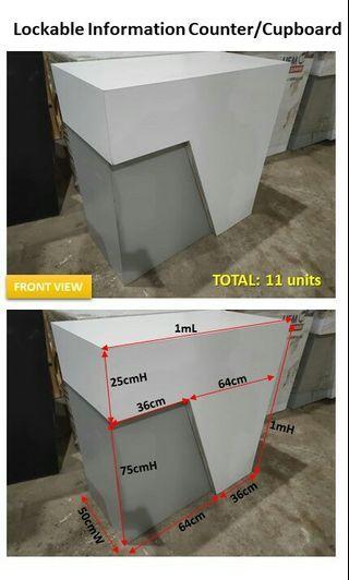 Reception Counter / lockable cupboard