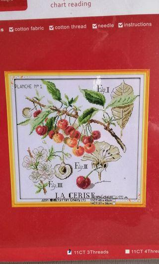 Cross Stitch Kit J231 Cherry fruits NKF