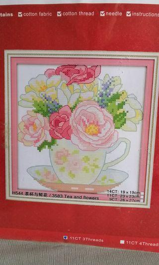 Cross Stitch Kit H544 pink roses NKF