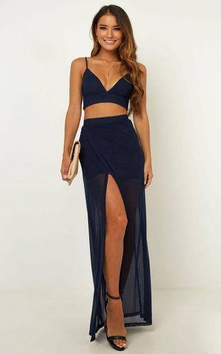 Body Language Two Piece Set in navy