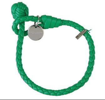BV 綠色皮革手環