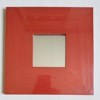 Ikea Malma Red Mirror 1pcs (26 X 26 cm)