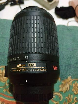 Lensa/Lens Nikon af-s nikkor 55-200mm.1:4-5.6G ED IF VR.nego.mulus.cod