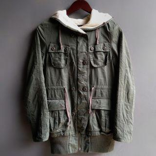 Jaket parka moussy army made in cina