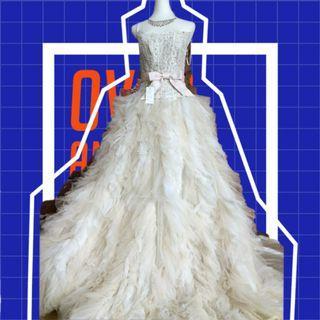 粉白公主婚紗