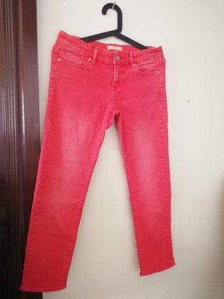 💮UNIQLO Red Jean Pant