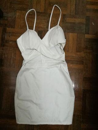 Front Cross Design Dress
