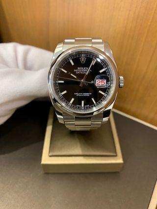 Rolex 116200 Datejust Black Dial