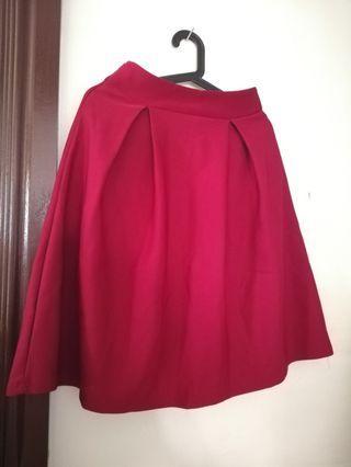 🌸Red Skirt