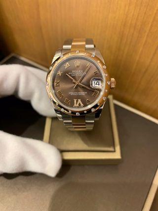 Rolex 178341 Datejust Rose Gold