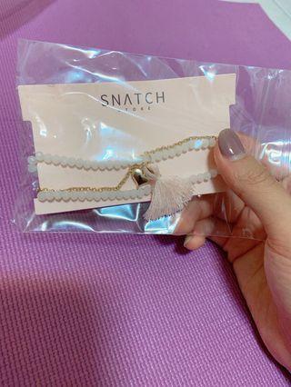 Snatch愛心流蘇 氣質手鏈 手環