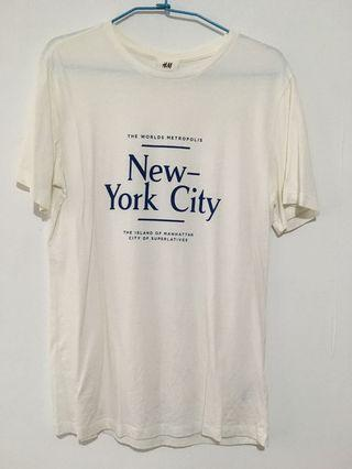 Hm New York 圖案T 米白 #恭喜旋轉七歲囉!