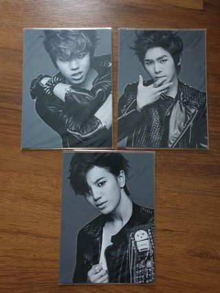 INFINITE BE MINE Sungjong, Sungyeol, Hoya postcards