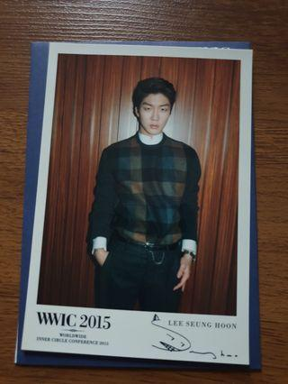 WINNER Seunghoon postcard