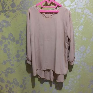 Blouse Peach fit to XL!
