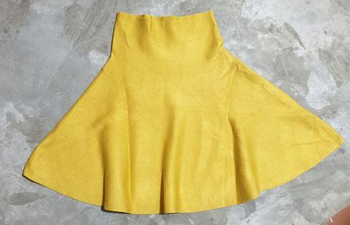 Mustard Knitted Skirt