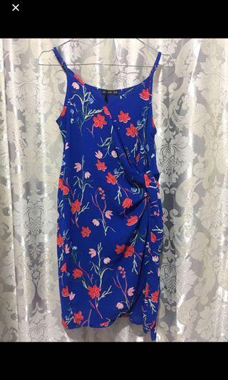 cotton on flower blue dress