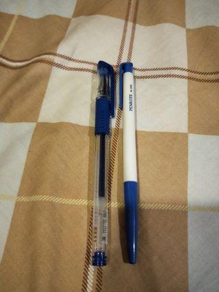 SKB藍原子筆+OB自動原子筆