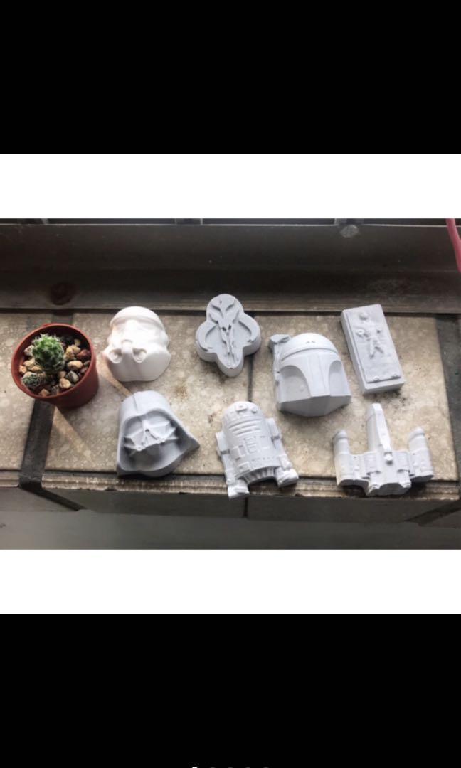 星際大戰擴香石 黑武士/突擊隊/R2-D2/Han Solo/波巴曼達格 婚禮小物/情人節禮物/喝茶禮/花椰菜