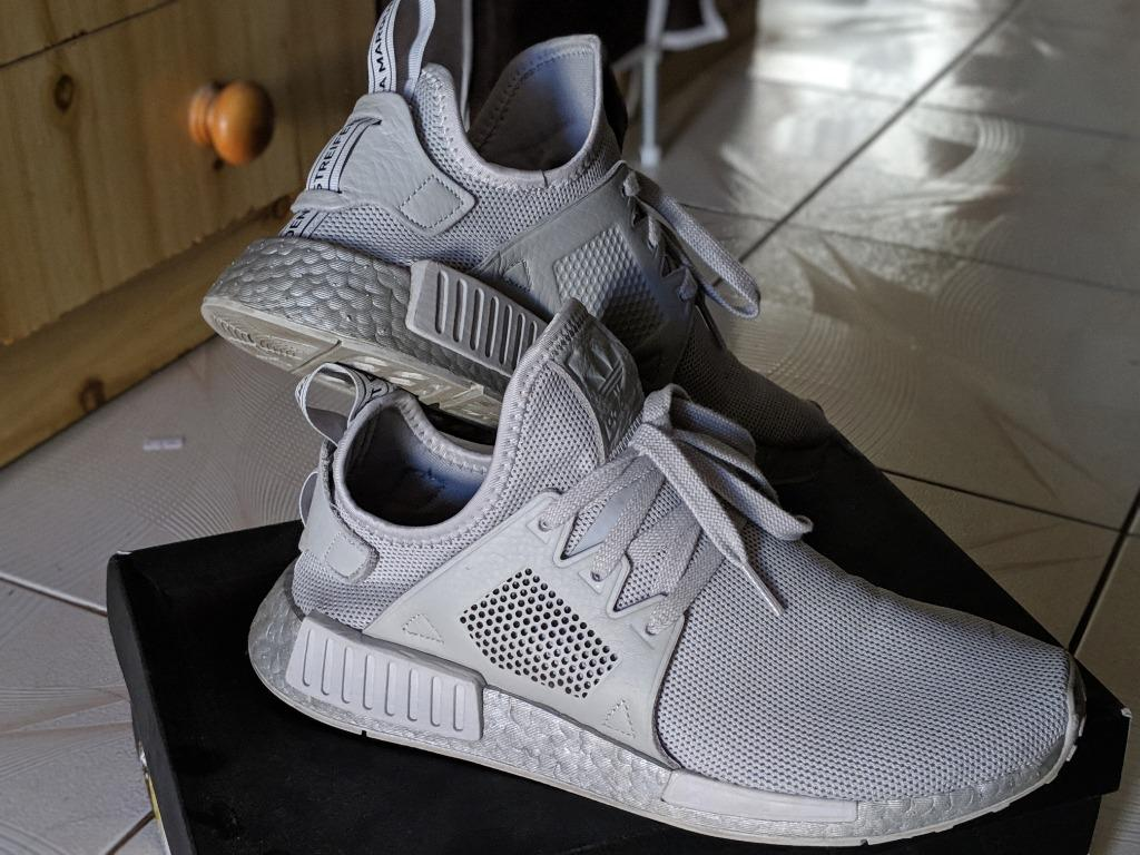 Adidas Gray Grey nmd_xr1 NMDs Silver Boost Trainers Sneakers US9.5 UK9