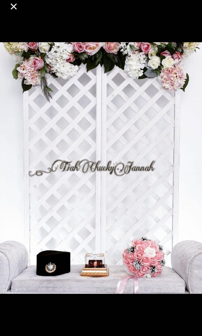 Affordable Backdrop / mini dais decor (rental)