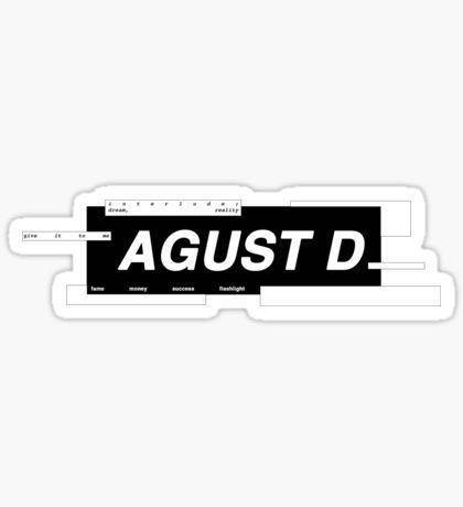 Agust D Hopeworld Mono BTS Rapline mixtape sticker set