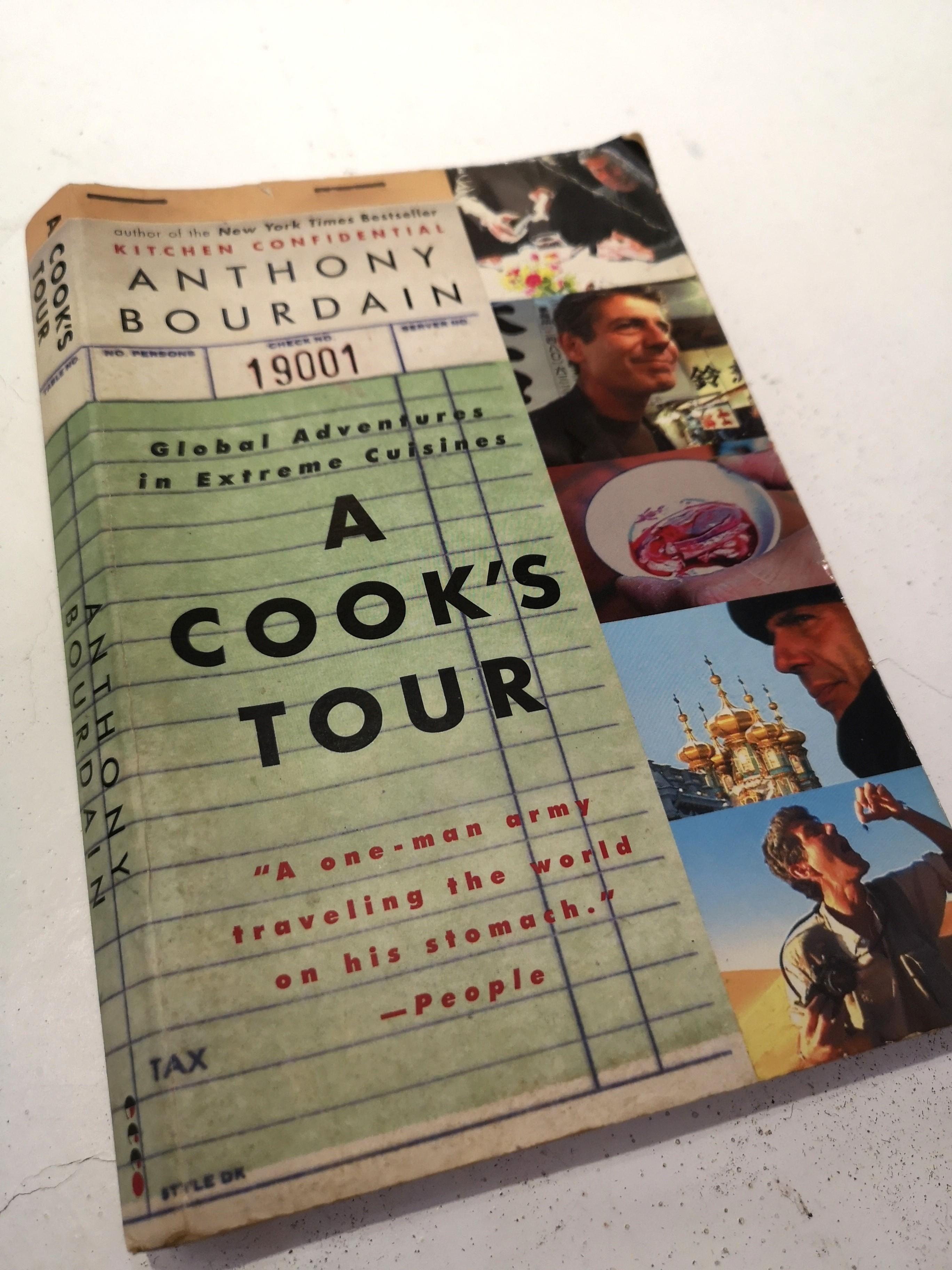 ANTHONY BOURDAIN A Cook's Tour + Around The World In 80 Dinners by Cheryl & Bill Jamison book bundle