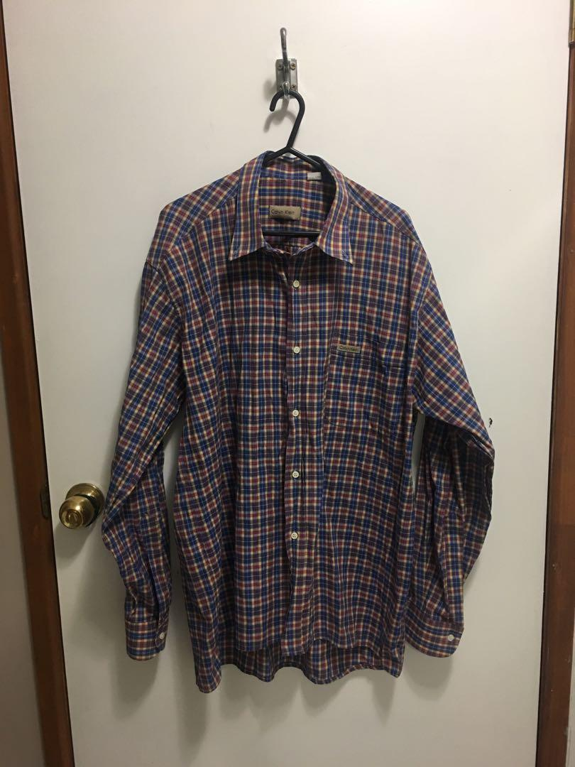 Authentic Calvin Klein button up long sleeve dress top
