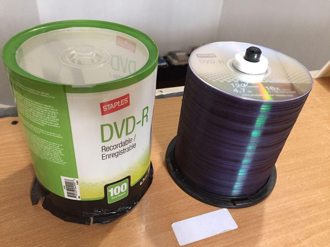 Blank DVD R Disc Recordable 100pcs