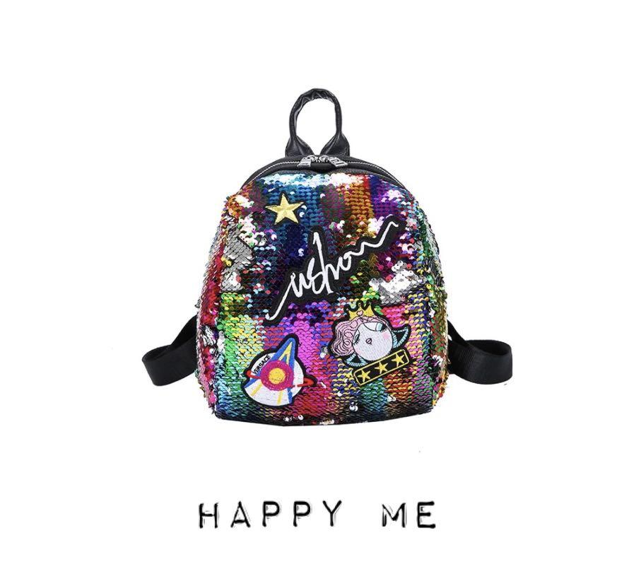 🌟🌟🌟Fashion Korean Sequin Embroidery Travel Backpack