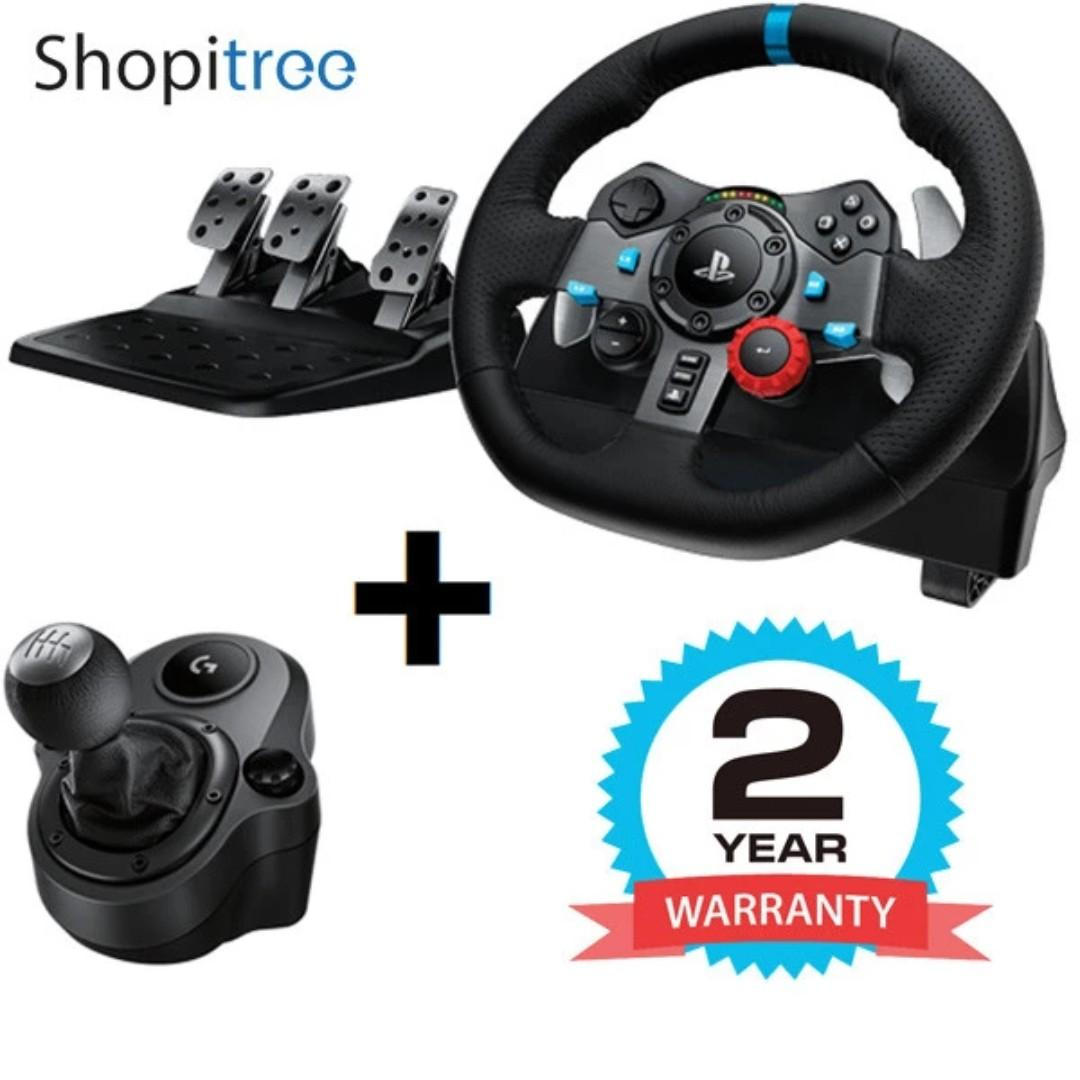 (Brand New) Logitech / G G29 Driving Force Steering Wheel with Shifter (for PS4/PS3/PC) + 2 Year Warranty by Local Distributor [Promo till 25 Aug 2019]