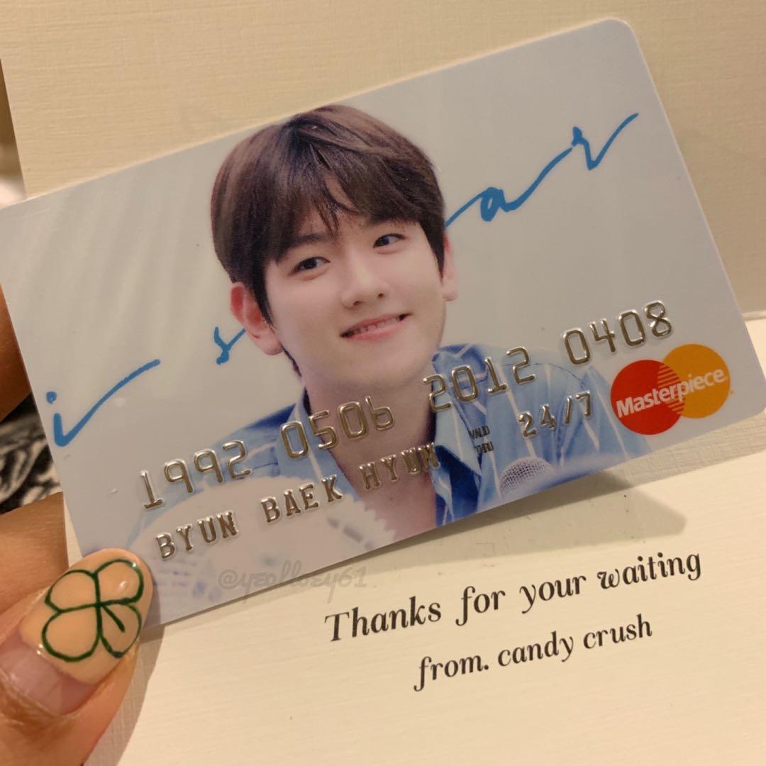 (Candy Crush I Swear Fansite Goods) EXO Baekhyun PVC Card / ATM Card