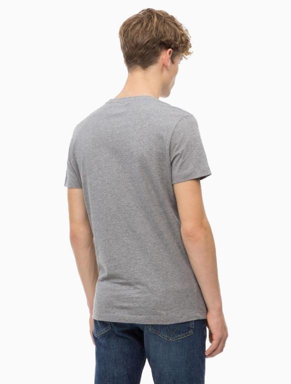 CK Calvin Klein Jeans SLIM FIT Box Logo Grey SMALL Men's