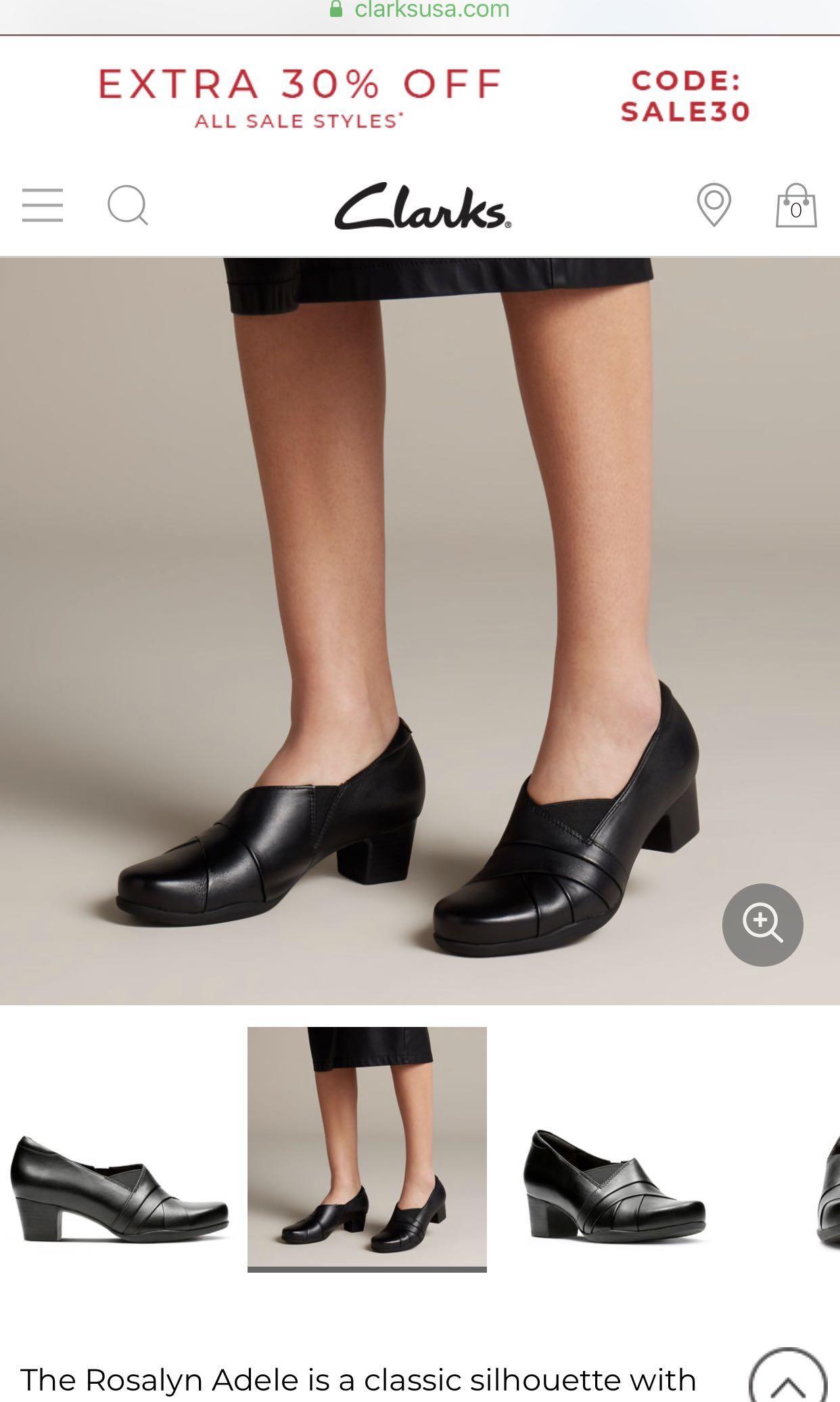 Clarks black boots, Women's Fashion