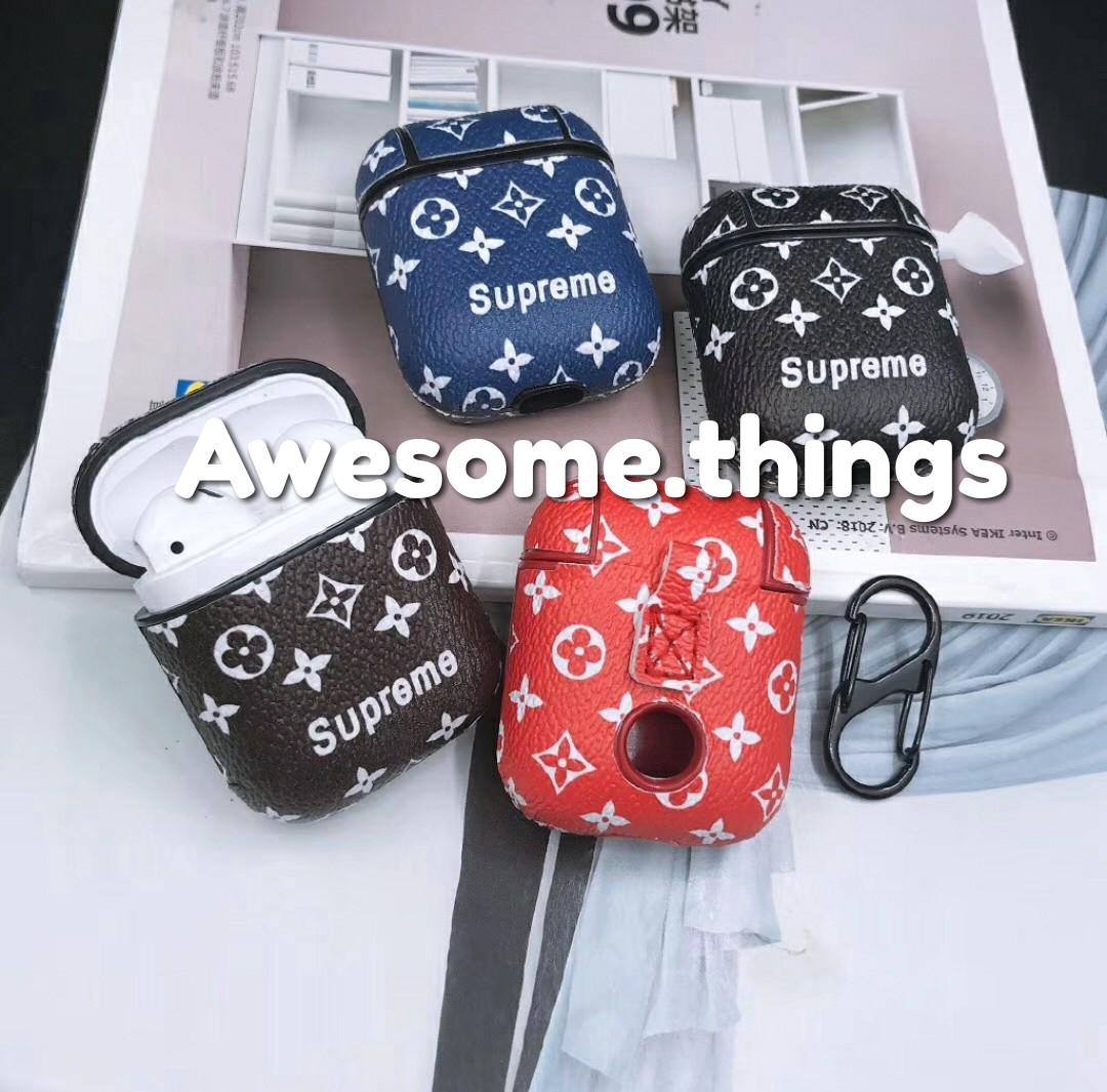 Louis Vuitton Supreme Apple Airpods Air Pods Wireless Case Mobile