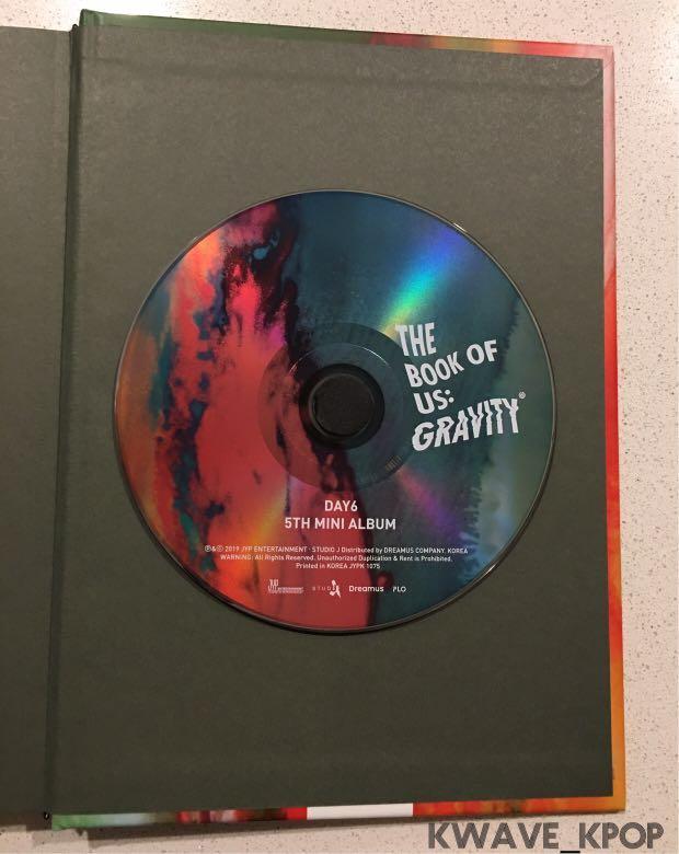 DAY6 데이식스 - THE BOOK OF US : GRAVITY (5th Mini Album) Mate Version
