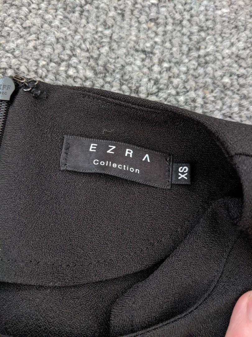 Ezra - black with white piping dress - AU XS #swapau