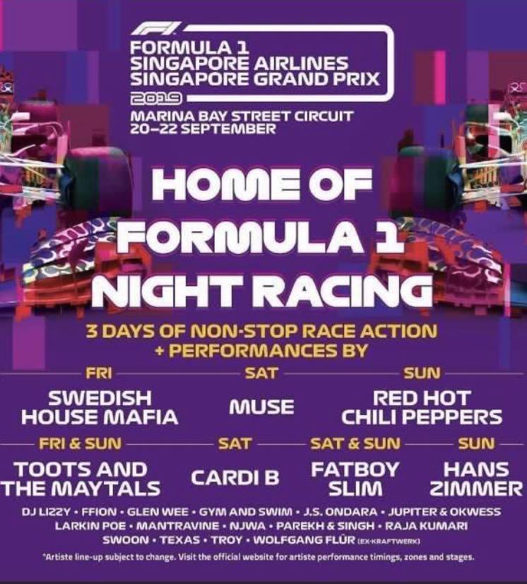 F1 Zone 4 Padang Walkabout Sunday (22 Sep 2019)