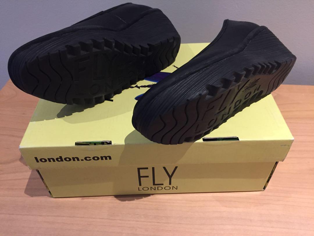 Fly London Yalu Wedge Pump Black - size 6.5-7 US / 37 EUR