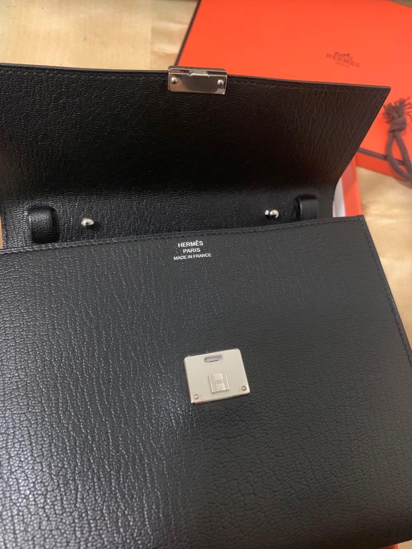 Hermes Clic 16 Black / WOC 山羊皮 銀扣