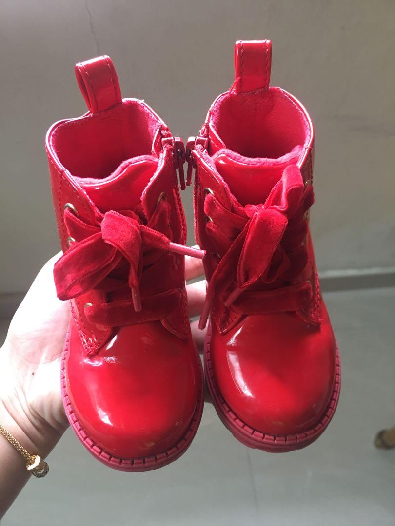 H&m red boots shoe