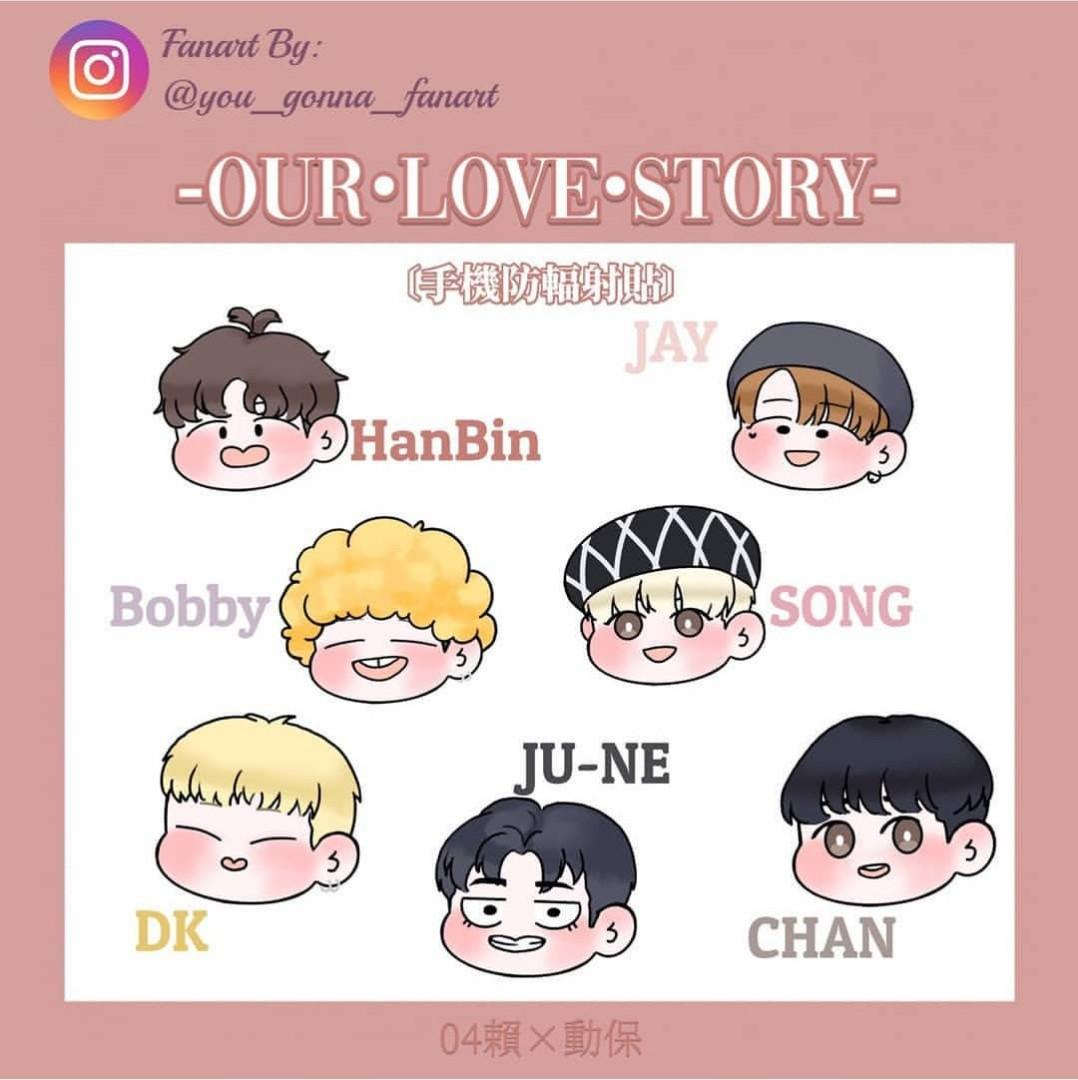 iKON 4 ANNIVERSARIES OUR LOVE STORY PROJECT LOSE ITEM 4 - RADIATION PROTECTION STICKER